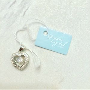 Jewelry - Sterling Silver & Crystal Heart Pendant